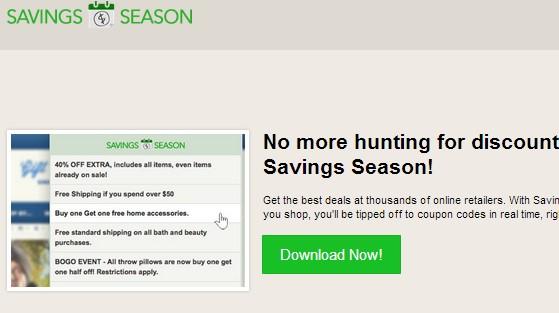 Savings Season adware