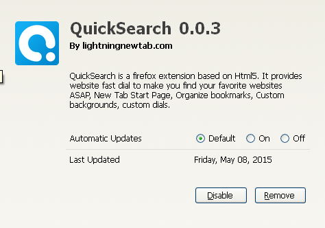QuickSearch 0.0.3
